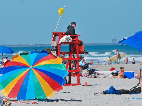 The beachfront at Lori Wilson Park in Cocoa Beach is