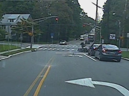 Dash cam footage caught the moment when Montclair resident