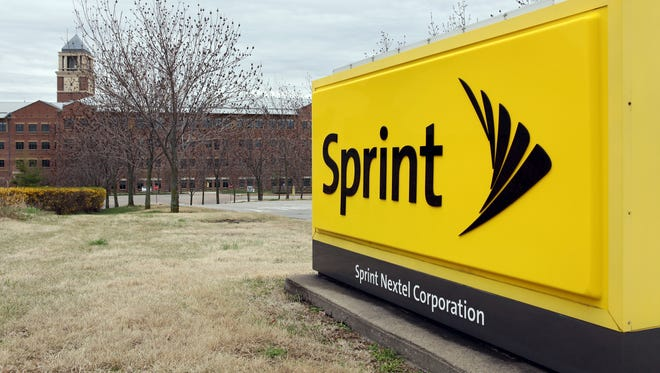 A sign is seen in front of the Sprint Nextel operational headquarters on April 15, 2013 in Overland Park, Kansas.