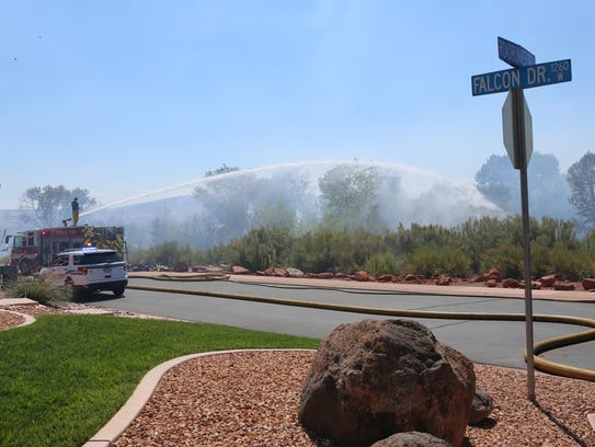 St. George Police and St. George Fire Departments respond
