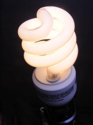 Todd Dudek Photo-- fluorescent light bulb