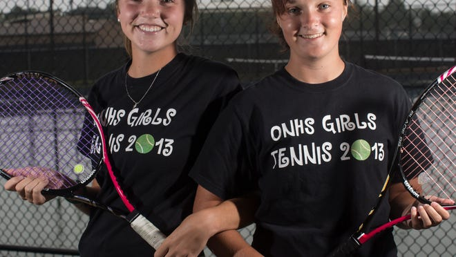 Oshkosh North doubles tennis team Meg Hartzell, left, and Alyssa Schafer have posted back-to-back trips to the WIAA Division 1 state tournament.