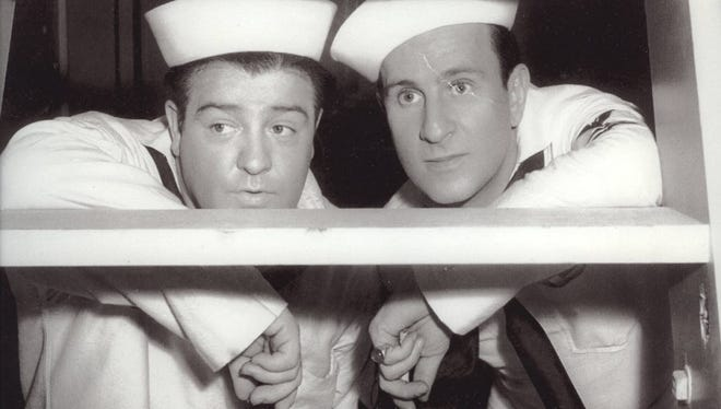 """Lou Costello and Bud Abbott star in """"In The Navy."""""""