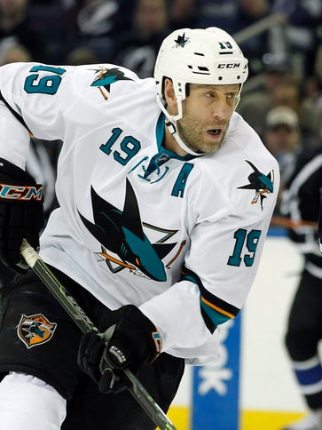 Sharks center Joe Thornton has scored multiple points