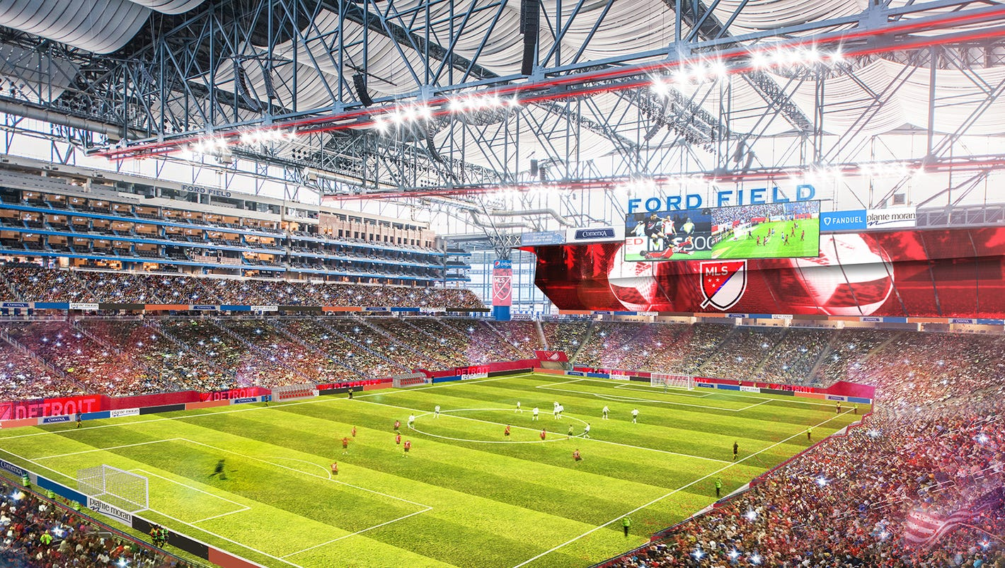 What Ford Field would like with a soccer team