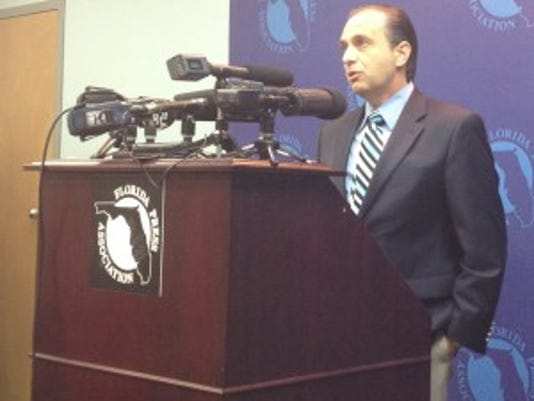 John W. Schilling speaks at a Monday news conference in Tallahassee. Photo: James Rosica