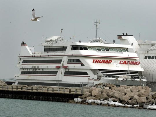 View of the Trump Casino boat at Buffington Harbor,