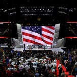 Delegates inside the Quicken Loans Arena in Cleveland on July 19, 2016.