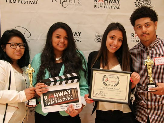 """""""Best Film of the Festival"""" winners, the student filmmakers"""