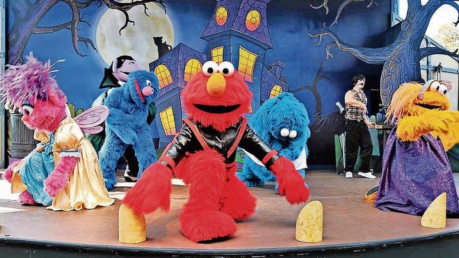 """""""Elmo the Musical Live!"""" is one of the many family-friendly attractions at Sesame Place."""
