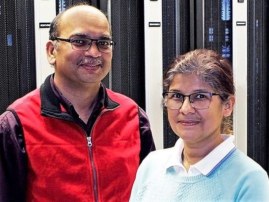 Rajendra Zope, left, and Tunna Baruah, UTEP physics