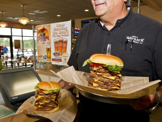 Anthony Laccetti, owner of Jake's Wayback Burgers in