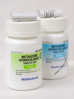 Methadone prevents cravings and withdrawal symptoms of opiate addicts.