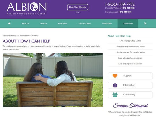 The new site gives a number of ways people can help.