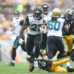 Jaguars on fire: Watch Leonard Fournette's two first quarter TDs over Steelers