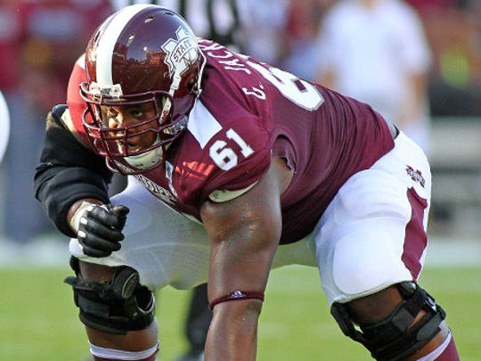 Mississippi State heads into the 2014 season needing to replace two offensive lineman, specifically guard Gabe Jackson.