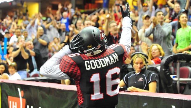 Dominick Goodman and the Cleveland Gladiators will play for the ArenaBowl title Saturday against Arizona.