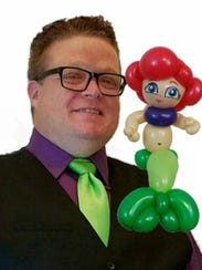 Sam Cremeens works as a professional balloon artist.