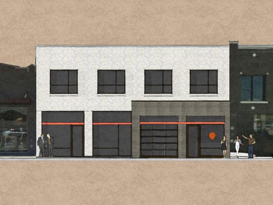 Architectural rendering of the renovation of a 107-year-old building for Simple Focus.