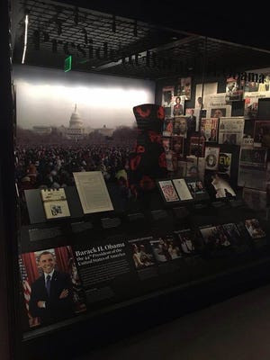 An exhibit at the Smithsonian Museum of African American History and Culture celebrating the election of America's first African-American president.