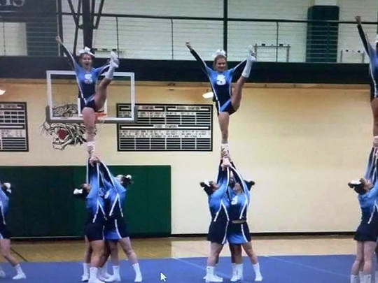 Livonia Stevenson's competitive cheer team is pictured