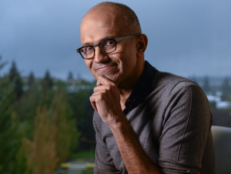 Microsoft CEO Satya Nadella is just one year into turning the company ship around, but earnings results Thursday impressed Wall Street and sent the stock up 10 points in trading Friday.