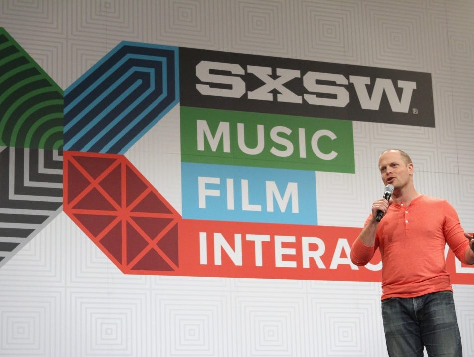 Tim Ferriss, author of The 4-Hour Workweek, speaks at South By Southwest in March 2015.