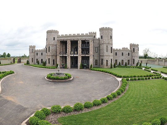The Kentucky Castle is nestled between horse farms and bourbon distilleries in Versailles, Ky.