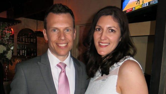 Newlyweds Richard Lamperti Jr. and Melissa Fertitta-Lamperti at their wedding reception.