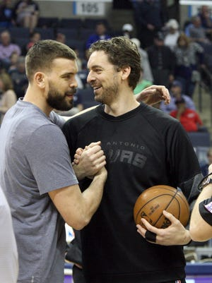 Brothers Marc and Pau Gasol