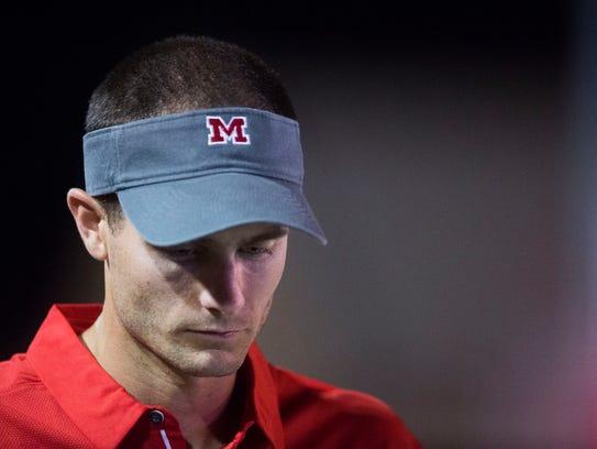 Maryville head coach Derek Hunt stands on the sidelines