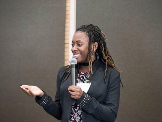 Ominay Robertson, an 11th grade student at Franklin