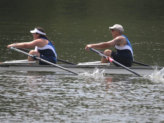 Wilmington Rowing Club's Janice Paulson and her father