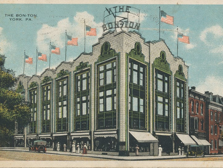 This postcard is of The Bon-Ton's former location in