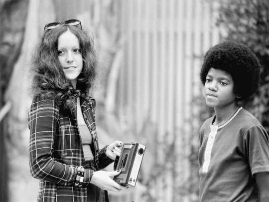 """Rock journalist Lisa Robinson interviews Michael Jackson in Encino, Calif., in October 1972. Jackson is one of the many musicians Robinson writes about in her new book, """"There Goes Gravity: A Life in Rock and Roll."""""""