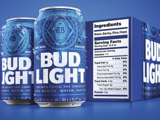 Beer Nutrition Labels