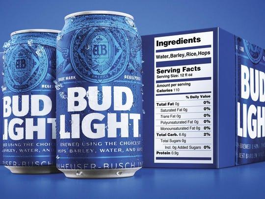 Beer Nutrition Labels