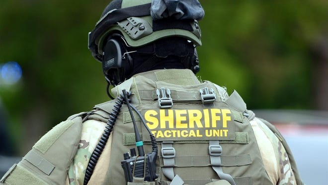 Madison County Sheriff Tactical Unit responded to a call in Medon, TN, Friday.