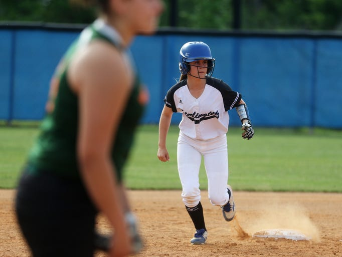 Sterlington's Madigan Stevens attempts to advance to