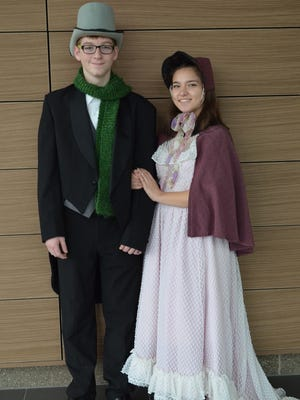 "Fred, played by Jackson Warren, and Fan, played by Olivia Tosolt, are in Stevenson High School's production of ""A Christmas Carol,"" which opens at 7 p.m. Thursday."