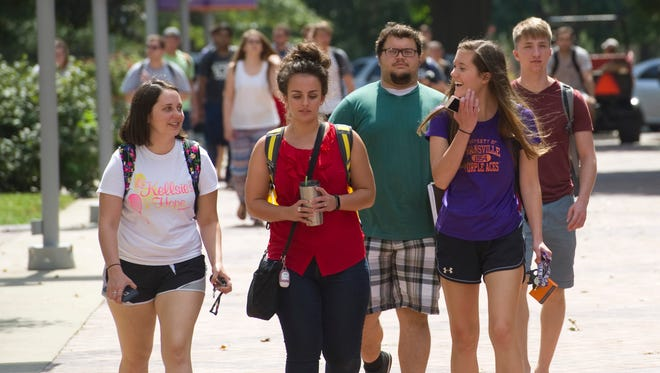 The University of Evansville announced an uptick in its freshman enrollment by four percent from last year.