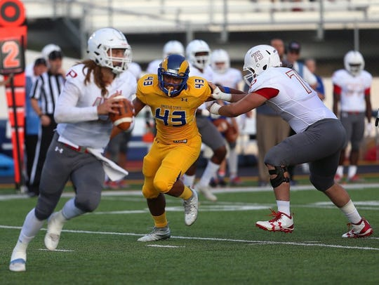 Angelo State defensive end Markus Jones led the nation