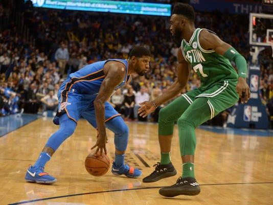 NBA: Boston Celtics at Oklahoma City Thunder