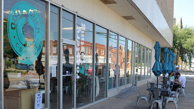 """Odd Duck Coffee, located in downtown Wichita Falls, co-owner, Andrea Klopf said she is upset about the city's unwillingness not to """"bend"""" an outdoor seating ordinance after city officials allowed her business to place outdoor seating while the city waited to see how the Wichita Falls bond election would turn out."""