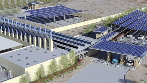 Concept design for new Land Port of Entry near Columbus, NM.