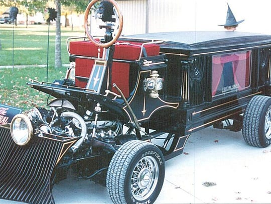 Motorized caskets will be racing on Saturday at the