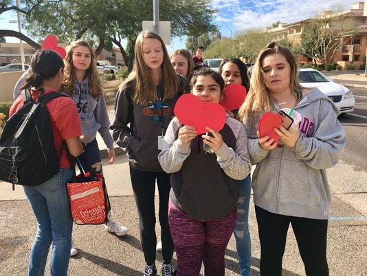 Students from Chaparral High School in Scottsdale