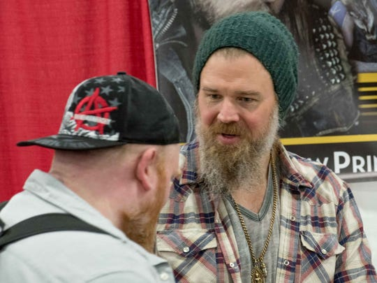 Ryan Hurst meets with fans at Motor City Comic Con 2018 at the Suburban Collection Showplace in Novi on May 20, 2018.