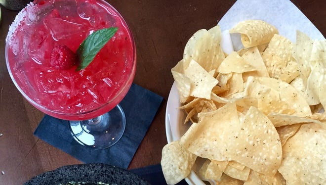 The Fresh Margarita of the Day changes based on what fruit is fresh and in season.