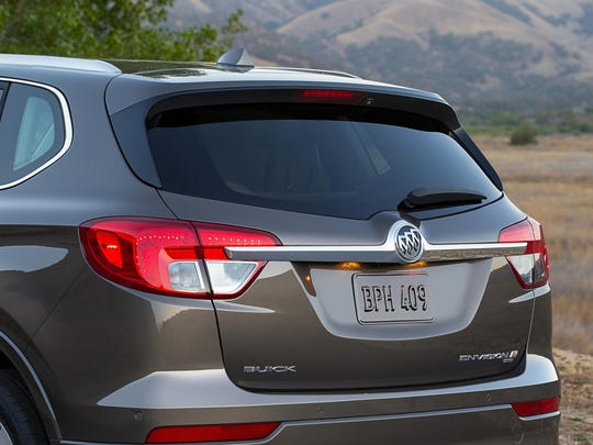 The 2018 Buick Envision, shown here, carries the brand